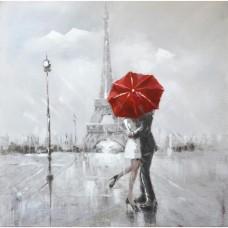 obraz - malba na plátně 80x80cm PARIS