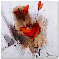 obraz - malba na plátně 60x60cm tulipány PB074