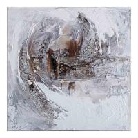 obraz - malba na plátně 60x60cm abstraktní růže 2