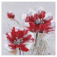 obraz - malba na plátně 60x60cm tulipány