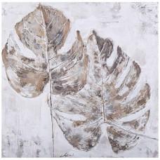 obraz - malba na plátně 60x60cm listy