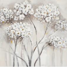 obraz - malba na plátně 40x40cm květy IM2169-1