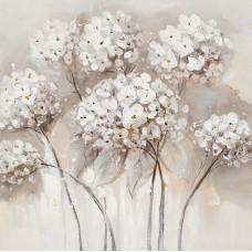 obraz - malba na plátně 40x40cm Hortenzie IM2169-2