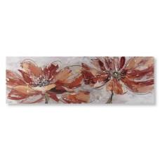 obraz - malba na plátně 150x50cm květy2