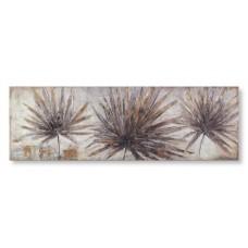 obraz - malba na plátně 150x50cm květy