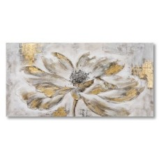 obraz - malba na plátně 140x70cm ZLATY KVET